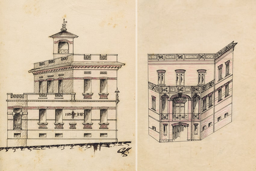 Prospetto storico del Palazzo Biblioteca Titta Bernardini